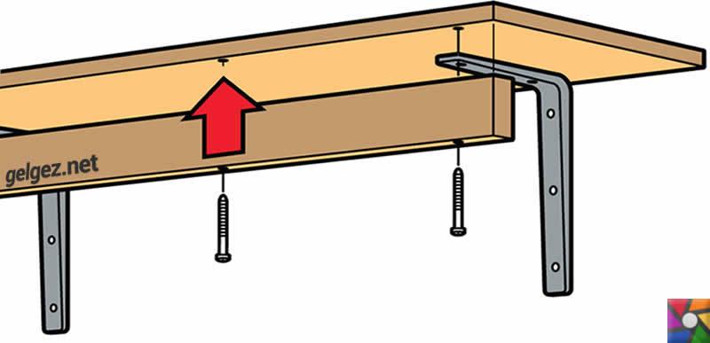 Evde raf nasıl yapılır? | Ağır raflar için ek parça